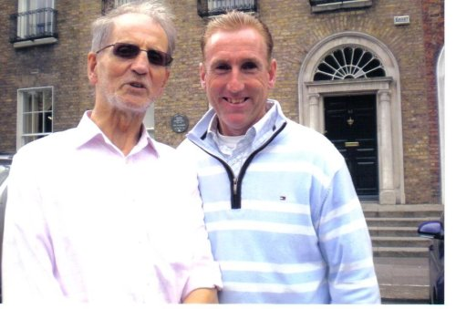 With fellow-Tipperary cyclist and Tour de France star, Sean Kelly.